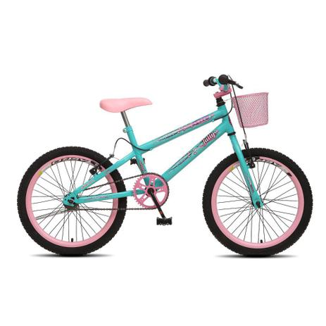 Imagem de Bicicleta Infantil Menina Feminina Aro 20 Colli July - Verde Acqua