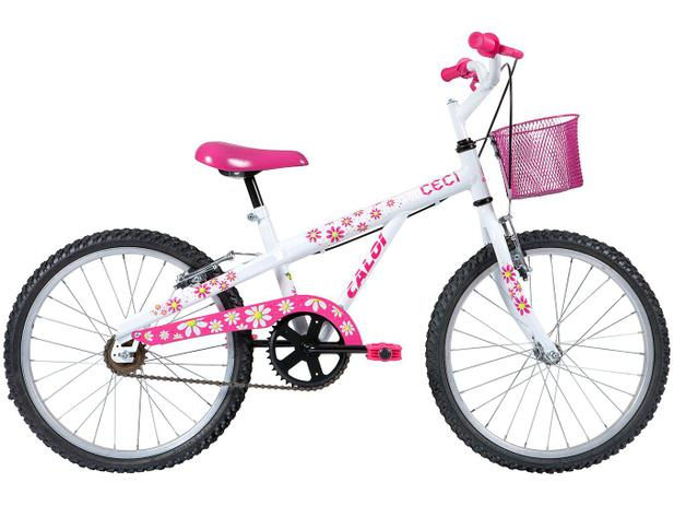 Bicicleta Infatil Aro 20 Caloi Ceci - Branca Freio V-brake ... d143e4458e70b