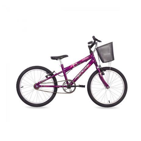 Imagem de Bicicleta Kiss Aro 20 Monovelocidade com Cesta Free Action
