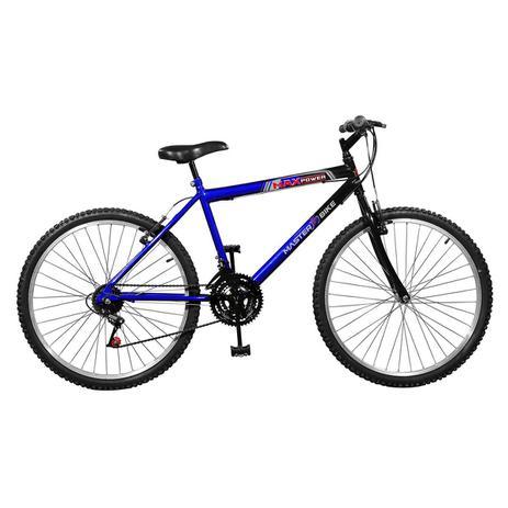 Imagem de Bicicleta Max Power 18 Marchas Aro 26 Azul E Preta Master Bike