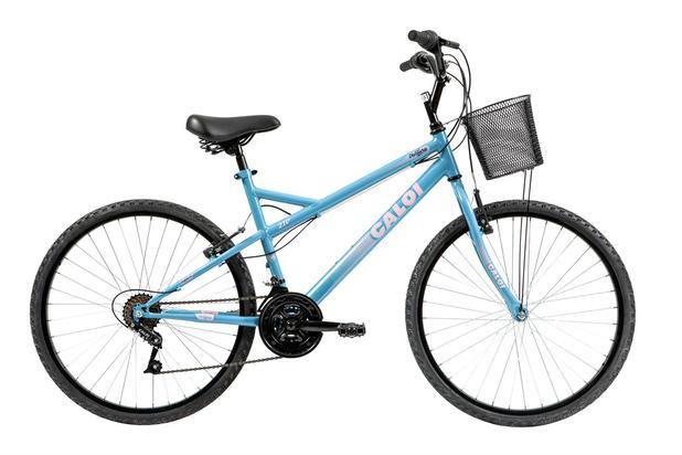 c28a57dd3 Bicicleta Mobilidade Caloi Ventura Aro 26 - com Cesto Freio V-Brake 21  Velocidades - Azul