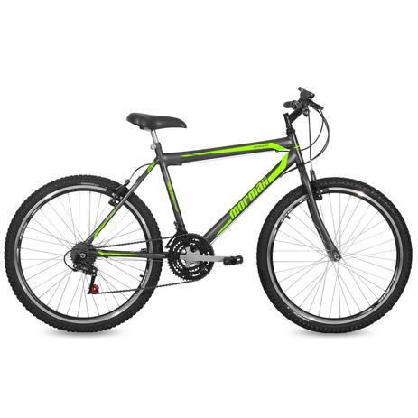 Imagem de Bicicleta Mormaii Aro 26 Jaws 21V C18  Grafite/Verde