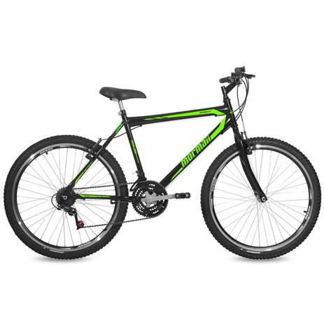 Imagem de Bicicleta Mormaii Aro 26 Jaws 21V C18  Preto Brilhante/Verde