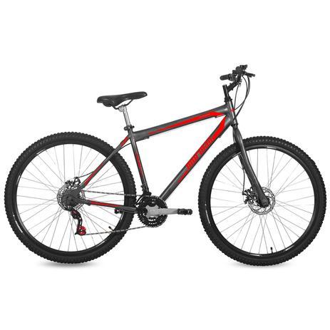 Imagem de Bicicleta Mormaii Aro 29 Jaws Disk Brake 21V C18  Grafite/Verm