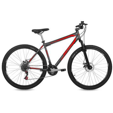 Imagem de Bicicleta Mormaii Aro 29 Jaws Disk Brake Susp 21V C18  Grafite/Verm