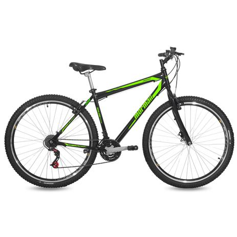 Imagem de Bicicleta Mormaii Aro 29 Jaws V-Brake 21V C18  Preto Brilhante/Verde