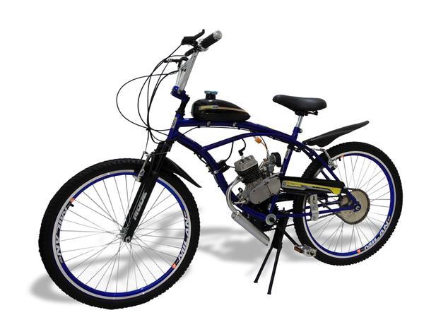 6271763061330 Bicicleta Motorizada Motor 2 Tempos 80cc Azul - Milan bike ...
