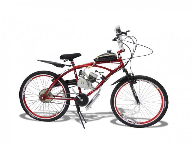 db4888cdcac23 Bicicleta Motorizada Motor 2 Tempos 80cc Vermelha - Milan bike ...