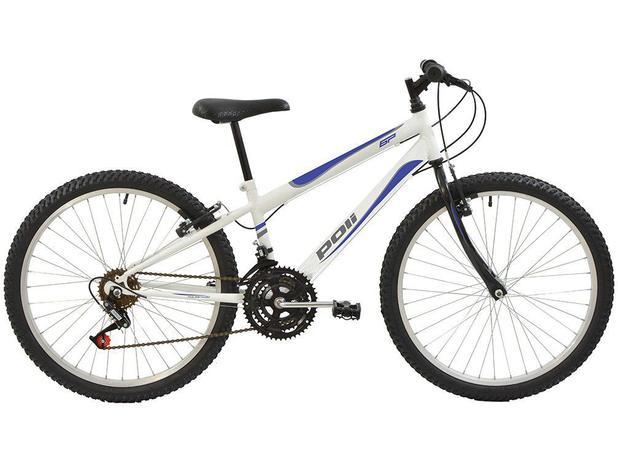 Bicicleta Polimet 7140 Aro 24 18 Marchas - Freio V-Brake