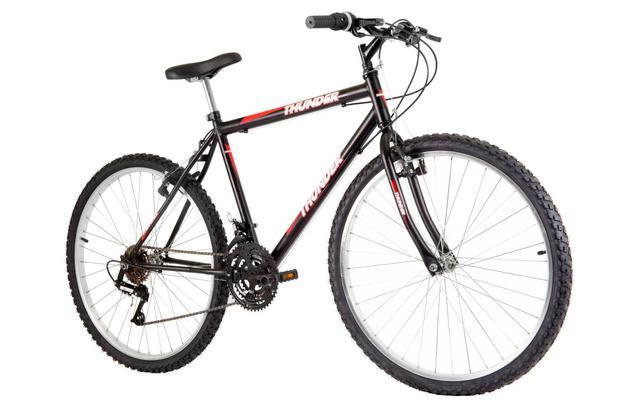 3342a6d66 Bicicleta Track Bikes Aro 26 Thunder 18V Preta - Bicicleta Mountain ...