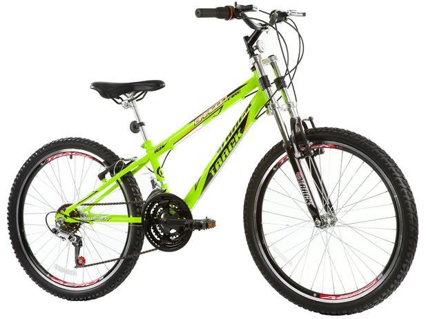 cffa62833 Bicicleta Track Bikes Dragon Fire Aro 24 - 18 Marchas Suspensão Dianteira  Downhill