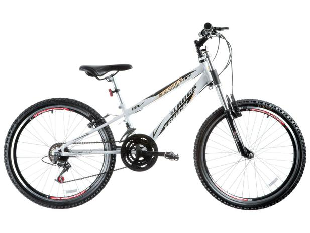5d72f657e Bicicleta Track Bikes Dragon Fire Aro 24 - 18 Marchas Suspensão Dianteira  Quadro de Aço