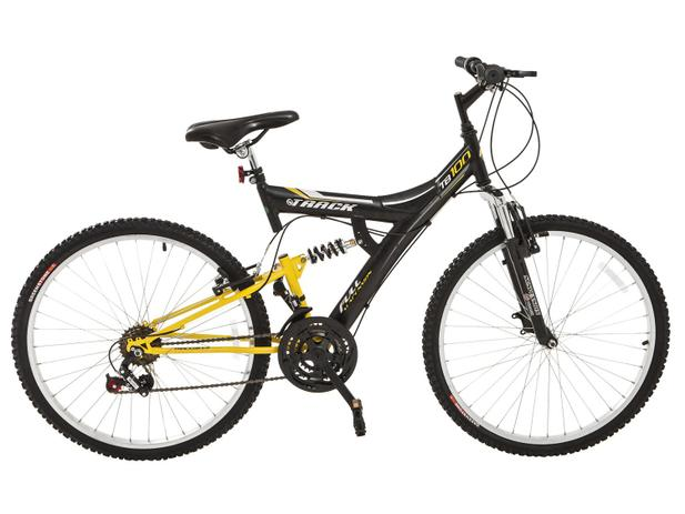 8267986fb Bicicleta Track Bikes TB-100XS PA Aro 26 - 18 Marchas Suspensão Central  Quadro de Aço