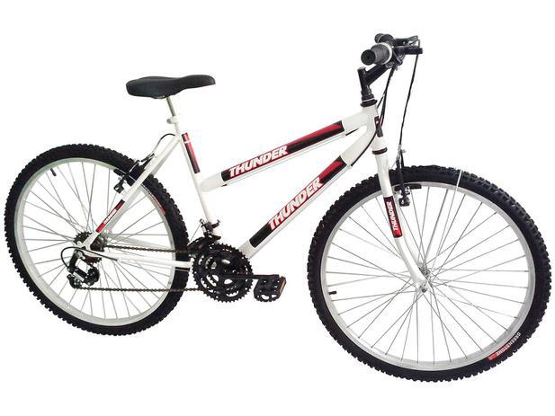 32922716f892e Bicicleta Track Bikes Thunder 18V Aro 26 - 18 Marchas Quadro de Aço Freio V- Brake