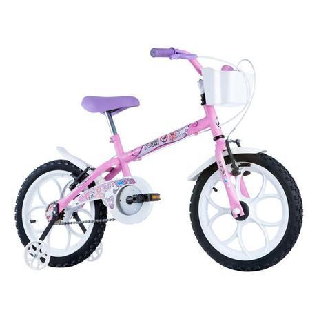 0de9186ec Bicicleta Track Pinky Aro16 C Roda Rosa Branco TRACK BIKES ...