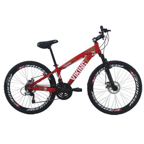 Imagem de Bicicleta Viking X TUFF25  Freeride Aro 26 Freio a Disco 21 Velocidades Cambios Shimano Vermelho - VikingX