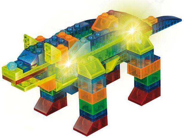 Bloco De Montar 99 Peças Light Blocks Animais Xalingo Blocos De