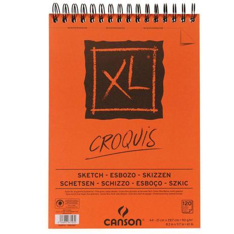 Imagem de Bloco Espiralado Canson XL Croquis 90g/m² A4 21 x 29,7 cm com 120 Folhas  200787103