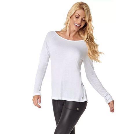 03609908cf Blusa manga longa cosmopolitan branca vestem - Blusa e Camiseta ...