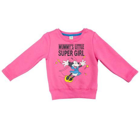 Blusa Manga Longa em Moletom - Rosa - Super Minnie - Disney ... 3478752ccf71c