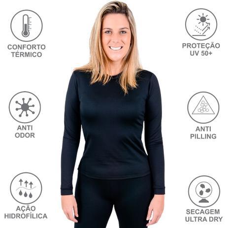 Imagem de Blusa Térmica Feminina Frio Intenso Viagem Moto Esqui Aventura Esportes