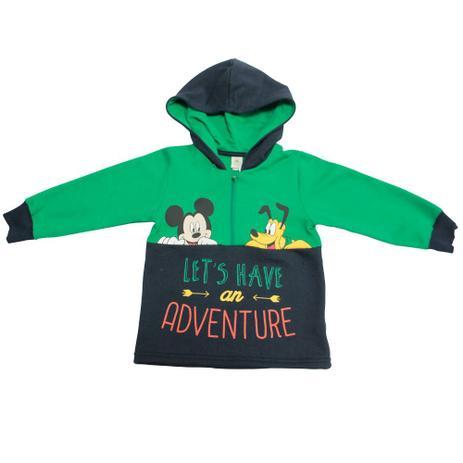 Blusão em Moletom - Verde e Marinho - Floresta Mickey - Disney ... 327db406224