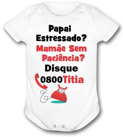 23b6bb008 Body bebê personalizado 0800 titia infatil - Vidape - Body ...