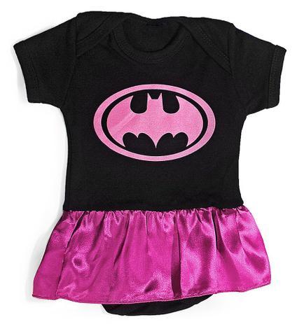 c621fc9b34 Body bebê Uniforme Batgirl Batman Roupa infantil Fantasia Heroi - Heróis