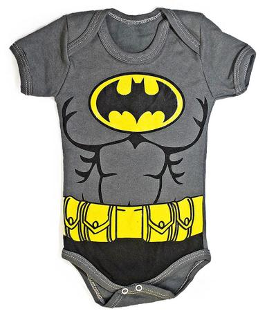 ebd7ef502f Body bebê Uniforme Batman Roupa infantil Fantasia Heroi M2 - Heróis