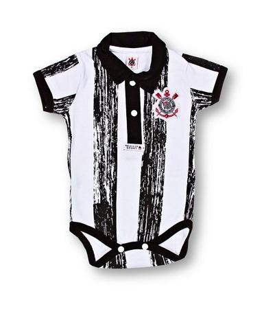 Body Corinthians Manga Curta Listras Oficial - Revedor - Body e Mijão ... 76e234973f370