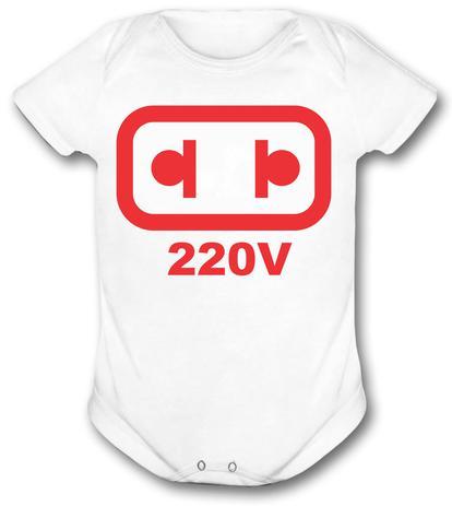 f89da8bf3 Body de Bebê personalizado ligado no 220 volts infantil - Vidape ...