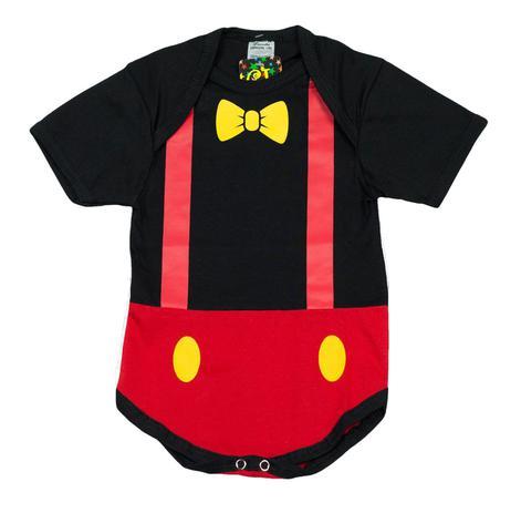 Imagem de Body Fantasia 100 Algodão Mickey Mouse
