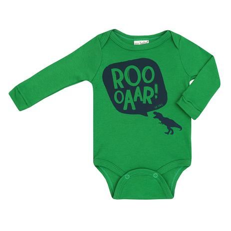 Body Masculino Bebê Suedine Manga Longa Dinossauro - Up baby - Body ... ac9c7a2caa3