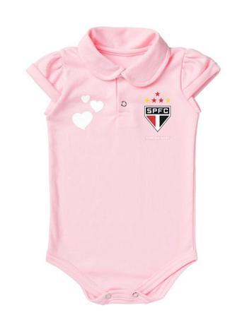 d0c8545b2 Body São Paulo Polo Rosa Torcida Baby - - - Magazine Luiza
