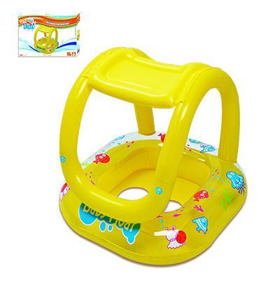 Imagem de Boia Inflável com Assento e Cobertura para Bebês 66 x 66 cm - Amarelo Summer Fun
