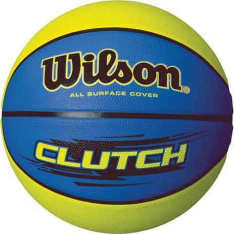 Bola De Basquete Clutch N.7 Azul Verde Wilson - Bola de Basquete ... 4caa35c99b637