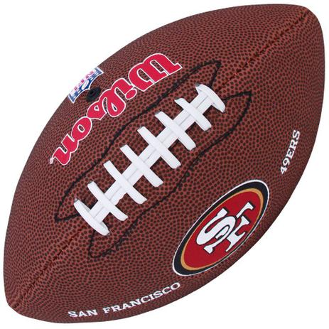 Bola de Futebol Americano NFL San Francisco 49ers - Wilson - Bola de ... 90f51cb650f43