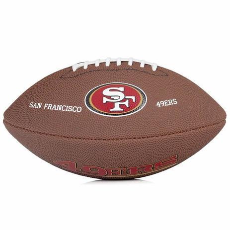 Bola de Futebol Americano NFL Team Logo Jr San Francisco + Bomba de Ar  Wilson 6f80da2fc5c93