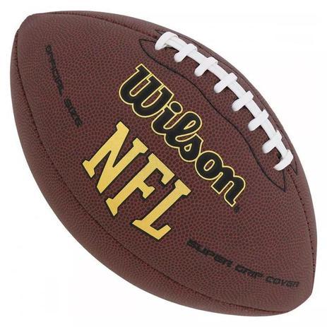 Bola de Futebol Americano - Oficial - Super Grip NFL - Wilson - Bola ... 255e675ee8546