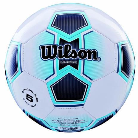 Bola de Futebol de Campo Illusive N.5 + Bomba de Ar Azul Wilson ... 72bceca5e8be3