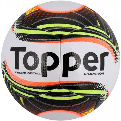 Bola de Futebol de Campo Topper Champion - Branco e Preto - Bolas ... 6f11a472d160f