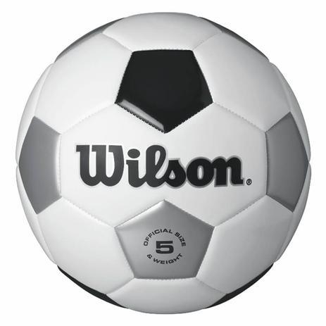 0e722774aa Bola de Futebol de Campo Tradicional N.5 Branca e Preta + Bomba de Ar Wilson