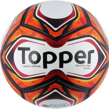 Bola de Futebol de Campo Velocity Pro Samba 2018 - Topper - Bola de ... 48b479527049a