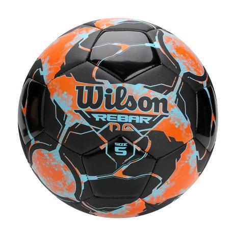 fd64d31a8 Bola de Futebol Rebar NG Laranja c  Preto 100 Original Wilson ...