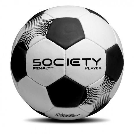 4dc98568bb Bola de Futebol Society Player Preto com Branco Penalty - Bolas ...