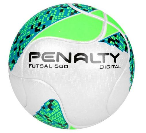Bola de Futsal 500 Digital Termotec Oficial Verde Branco - Penalty ... 15373ebae0be8