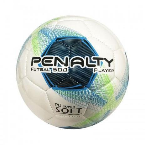 Imagem de Bola de Futsal Player 500 VIII Costurada Azul - Penalty