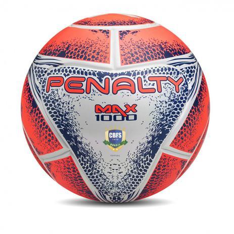 Bola de Futsal Profissional Max 1000 Termotec Alaranjada Penalty ... bec0284d45ced
