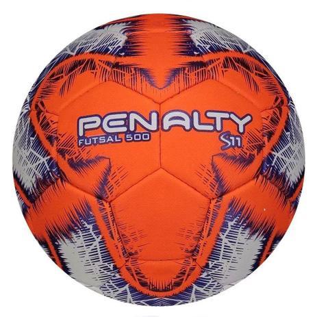 6ec8a5fa46093 Bola de Futsal S11 - R6 IX - Branca e Laranja - Penalty - Bolas ...