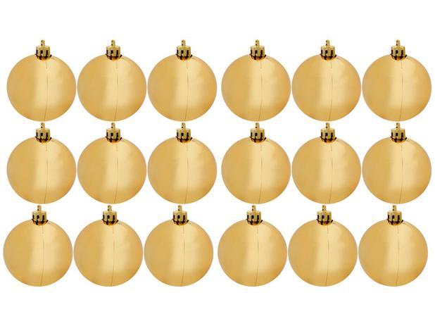 Imagem de Bola de Natal Dourada Lisa NATAL040B Casambiente